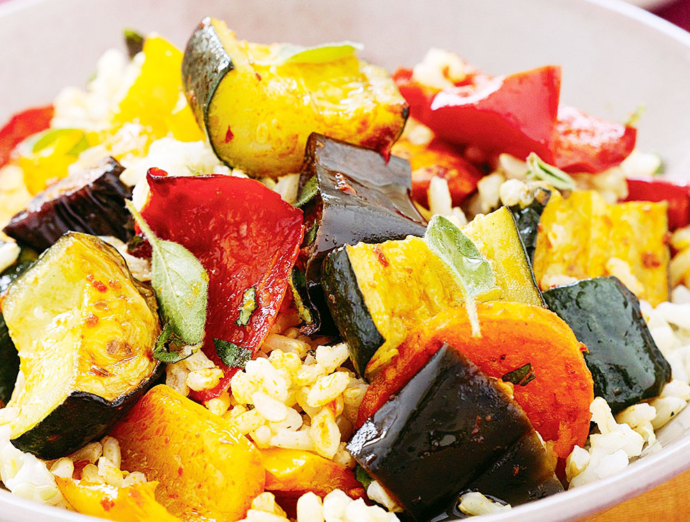 Italian Roasted Vegetable Rice