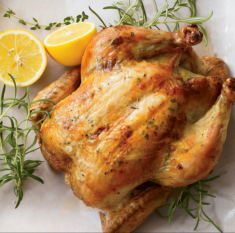Lemon and Herb Spit Roasted Chicken