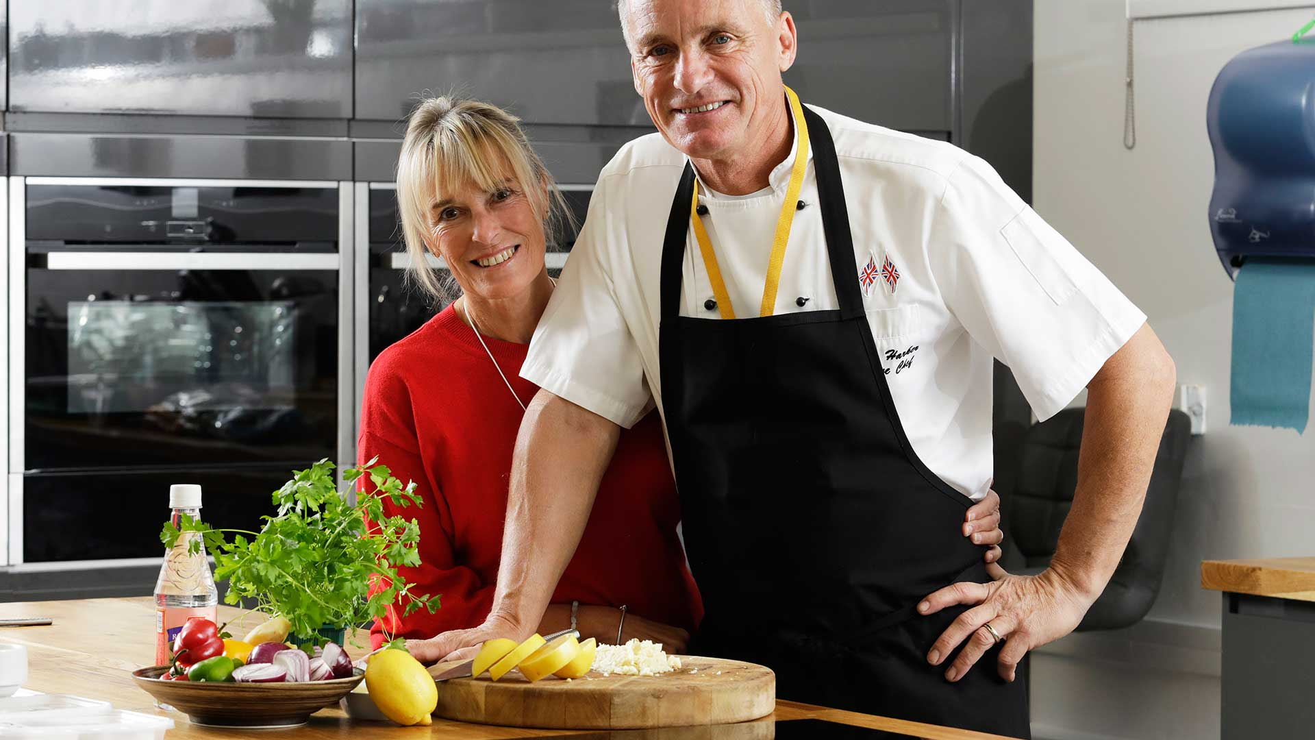 Debbie and Tom in the Kitchen