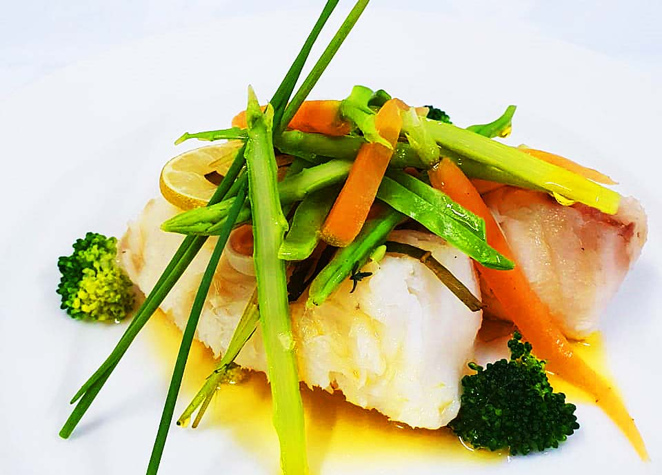 Grilled Fish Fillet with mixed Vegetables
