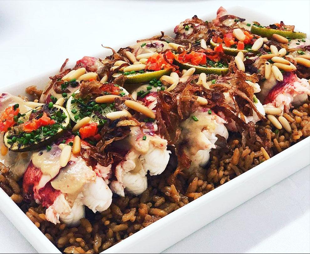 Lobsters on Arabic Rice